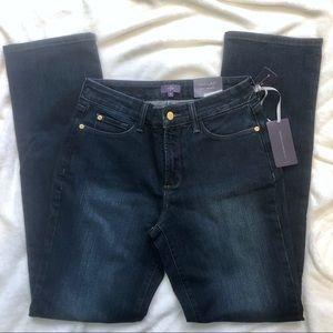 NYDJ Jeans - NYDJ straight leg blue denim jeans Lift tuck 8